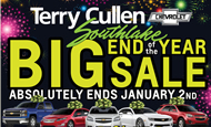 - Terry Cullen – Big Year End Sale 2013