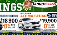 - Newspaper Ad – Lynch Nissan