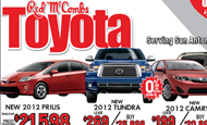 "- Newspaper Ad – Red McCombs Toyota ""Believe It!"""