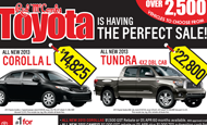 "- Newspaper Ad – Red McCombs Toyota ""The Perfect Sale"""
