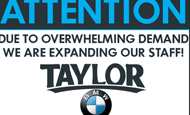 - In-Store Signage – Taylor BMW