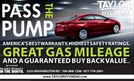 "- Newspaper Ad – Taylor Hyundai ""Pass the Pump"""