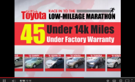"- Red McCombs Toyota ""Low Mileage Marathon"" Car Dealer Commercial"