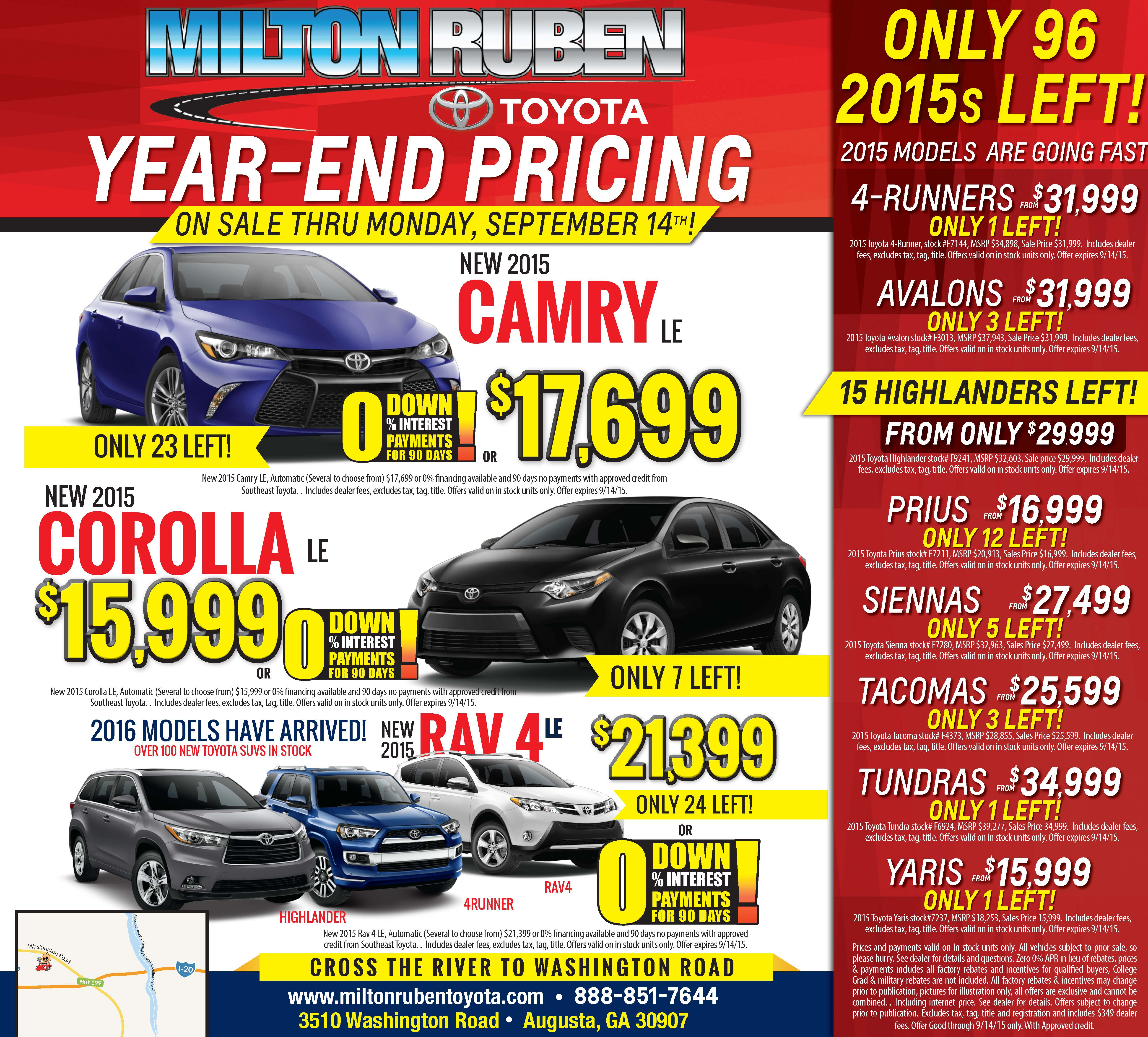 - Year-End Pricing | Newspaper Ad